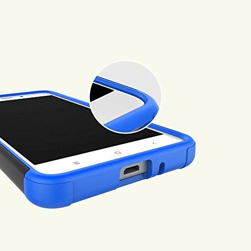 YAJIE-Carcasa Funda Para Xiaomi Redmi 4A, nueva carcasa de doble armadura híbrida desmontable [Kickstand] 2 en 1 resistente a prueba de golpes cubierta de la caja resistente para Xiaomi Redmi 4A ( Col Black