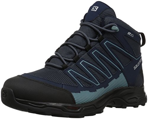 Salomon Women's Pathfinder Cswp Mid W Walking-Shoes, India Ink/Navy Blazer/Eggshell, 8.5 Medium US