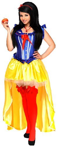 The Poisoned Apple (Daisy Corsets Women's 5 Piece Sexy Poisoned Apple Costume, Blue, Large)