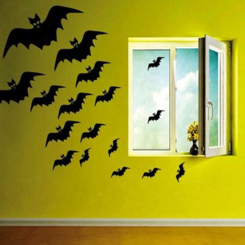 (Flying Bats Wall Decals Halloween Window Stickers Halloween)