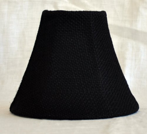 Urbanest 1100502 Chandelier Lamp Shade 6-inch, Bell, Clip On, Black Burlap - French Country Chandelier Shades