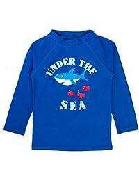 Boys' Long Sleeve Rashguard Swimwear Rash Guard Athletic...