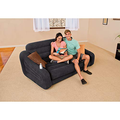 Another interesting and very affordable option is the simple queen sized sofa inflatable bed.
