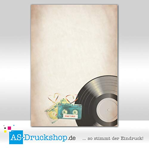 Design Paper Retro Cassette 100 Sheets DIN A4 90 g Offset Paper