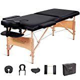 GreenLife® Basic™ Portable 2 Fold Massage Reiki Facial Table Bed (All Included Black)