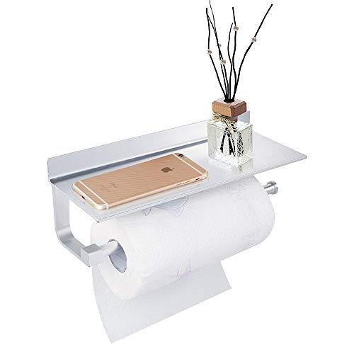 GERUIKE Paper Towel Holder Kitchen Dispensers Paper Towel Holder Wall Mount Tissue Roll Aluminum Hanger Organizer Rack