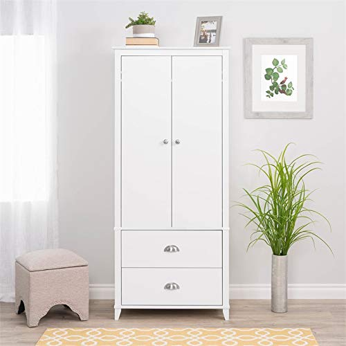 Prepac Yaletown Wardrobe Armoire in White