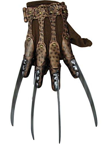 (Rubie's Mens Freddy Krueger Fleece Costume Accessory Glove, Multi, One)