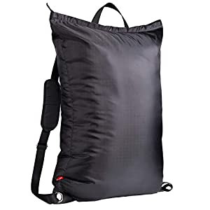 Large Laundry Bag『24″X34″』with Zipper,KSMA College Laundry Backpack with 2 Strong Adjustable Shoulder Straps for College Students Apartment Dorm-Room (Black)