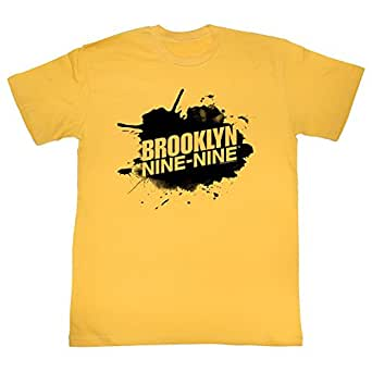 Brooklyn Nine-Nine Men's Sploosh T-shirt Small Ginger