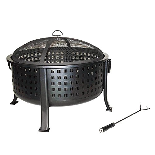hampton-bay-beckton-34-in-steel-deep-bowl-fire-pit-in-oil-rubbed-bronze-with-half-cooking-grid