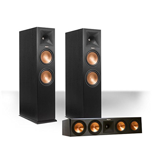 Klipsch RP-280FA Reference Premiere Dolby Atmos Enabled Floorstanding Speaker Package with RP-450CA Center Speaker (Black)