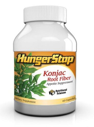 L'appétit abat HungerSTOP avec fibre racine de konjac (glucomannane)