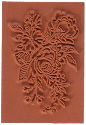Deep Red Stamps Floral Arrangement Rubber Stamp (Rubber Floral Stamp)