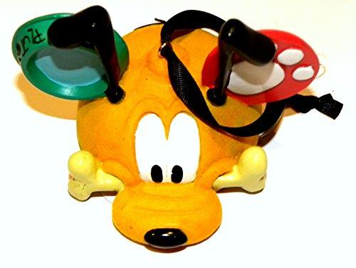 Disney World WDW Park 2015 Pluto Dog Bone Mickey Ear Head Hat Christmas Ornament