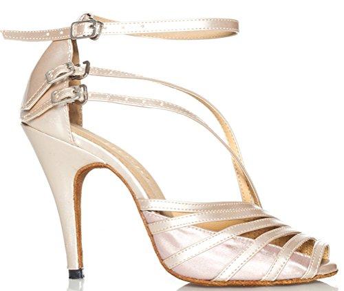 baile Blanco Cha Sucio l028 Moda Latina satinado Sexy nbsp;Womens profesional cha Correas zapatos salabobo Tres de f7xwA6w0