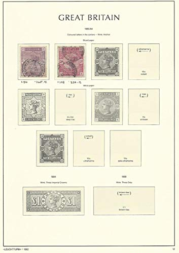 Great Britain Stamp Collection on Lighthouse Page 1883-84, 96, 108 SCV $415