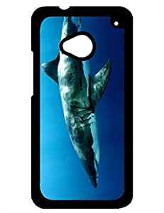 Elegant Design for Guys, Beautiful The White Shark Theme Unique Case,Htc One M7 Cover
