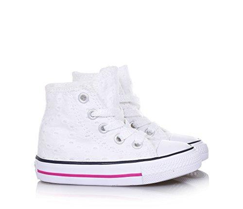 Taylor Bambina Hi Alta Sneaker Converse Bianco Tela Chuck vq54wF