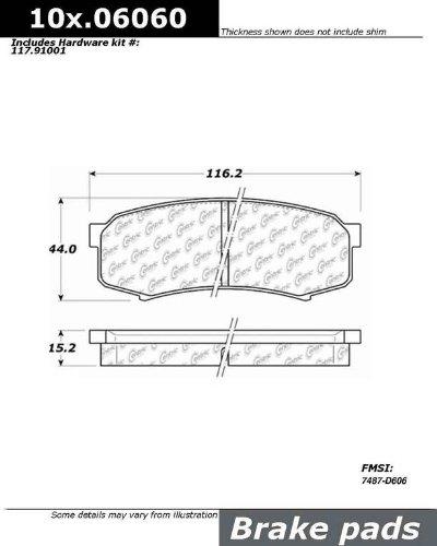 Ceramic StopTech 103.06060 Brake Pad