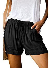 Women's Drawstring Elastic Waist Summer Casual Beach Shorts(S-XXL)