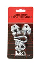 Koch Industries 143161 Wire Rope Clip and Thimble Pack with 3-Clips, 3/16-Inch, Zinc