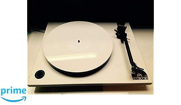 Vinyl Guru Blanco Metacrilato (Acrílico) Alfombrilla Tocadiscos ...
