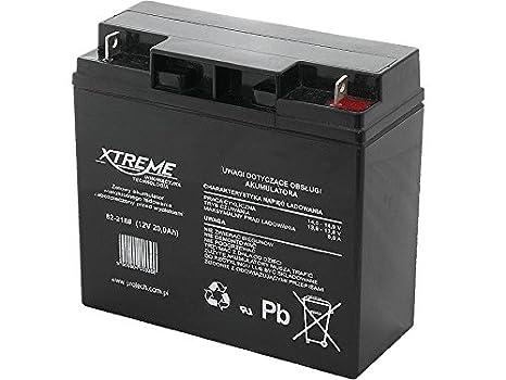 Xtreme - Batería del gel Movilidad 12V 20Ah Para silla de ruedas eléctrica. Pila recargable. Acumulador: Amazon.es: Electrónica