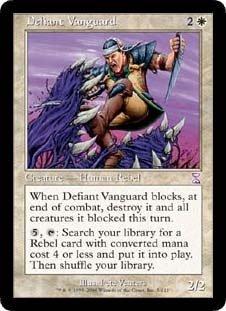 Defiant Vanguard (Magic the Gathering : Time Spiral Timeshifted #5 Rare) (Time Spiral Timeshifted Magic)