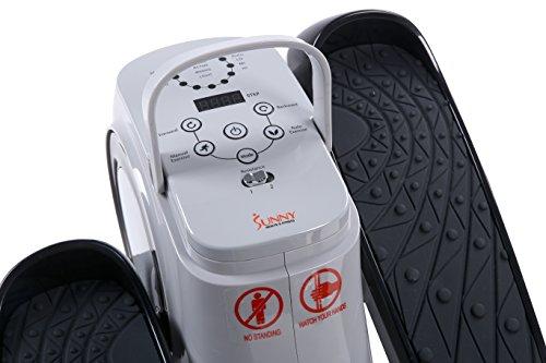 Sunny Health & Fitness Motorized Auto Assisted Under Desk Elliptical Peddler Exerciser SF E3626