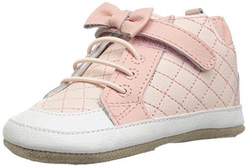 (Robeez Girls' Primrose High Top Crib Shoe, Pink, 18-24 Months M US Infant)