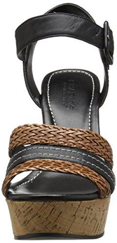 Black Sandal Wedge Cognac by Renata Charles Charles Women's David xYP0PHq