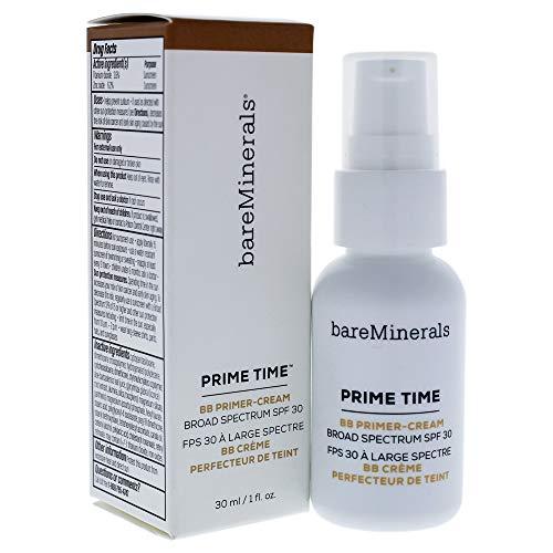 bareMinerals Prim Time BB Primer Cream SPF 30, Tan, 1 Fluid Ounce (Bare Essentials Primer)