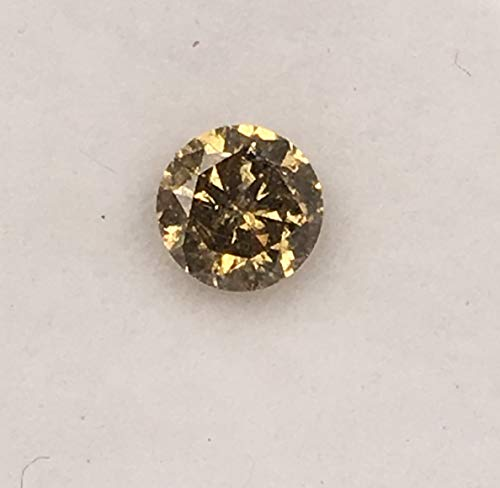 0.25 ct 4.1 mm Natural Loose Diamond Salt and Pepper Fancy Yellow Colour 1pcs Beautiful Round Brilliant Cut Diamond R3564