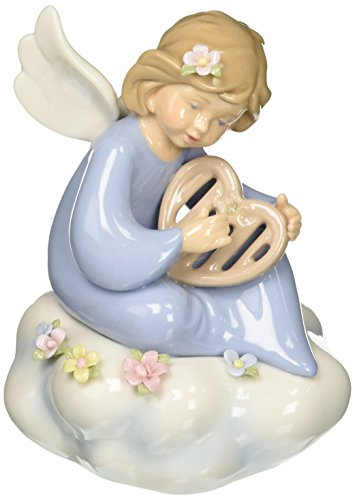 Cosmos 10372 Fine Porcelain You Put Music in My Heart Musical Angel Figurine, -