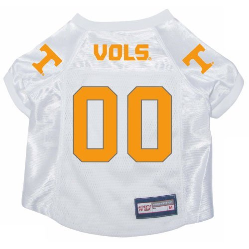 Tennessee Vols Volunteers Premium NCAA Pet Dog Jersey w/ Name Tag MEDIUM by Bama