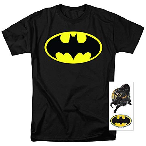 Batman Classic Logo T Shirt (Medium) Black
