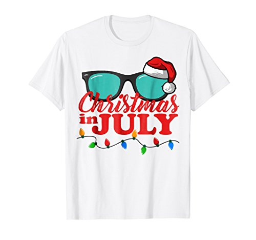 (Christmas in July Santa Hat Sunglasses Summer Celebration)