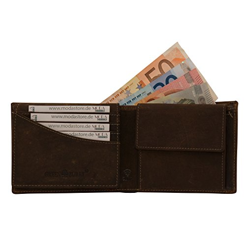 Cuir Homme monnaie Porte 1705 Rfid marron Braun Sacoche Portefeuille dunkel Greenburry Vintage 1705b 25 rfid AxqE4twBRB
