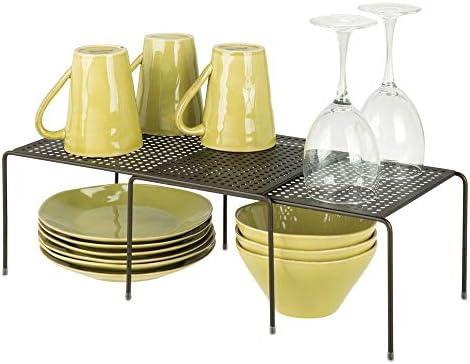 Mdesign Expandable Shelf Free Standing Kitchen Shelf For Kitchen