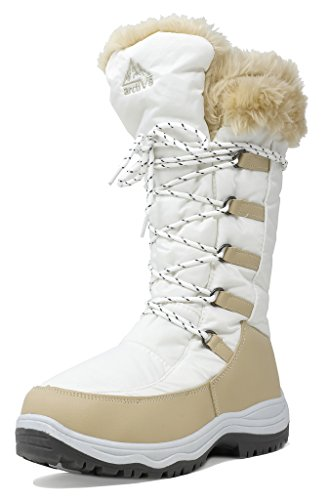 2017 Fashion Women Winter Boots Shoes (Beige) - 6