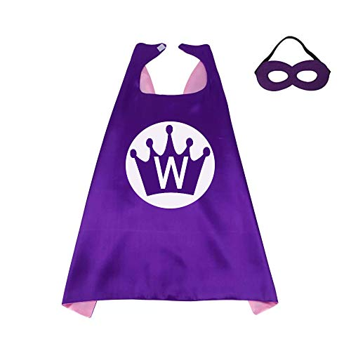 (RANAVY Superhero Capes for Kid Family Birthday Parties 26 Letters 10 Numbers Initial Boys/Girls Purple/Pink)