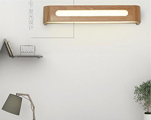 BOOTU lámpara LED y luces de pared Salón Dormitorio Balcón pasillos LED banqueta de madera maciza wc espejo en la pared delantera luces 50cm*12W: Amazon.es: Iluminación