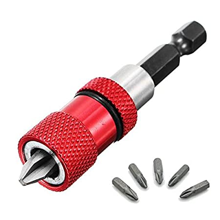10 Pcs//Set 60mm H1.5-H8 1//4/'/' S2 Steel Hex Shank Magnetic Head Screwdriver Bits