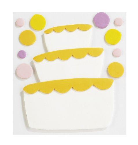 Jolee's Boutique Confections Fondant Tier Cake Dimensional Sticker