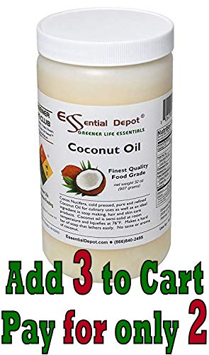 Coconut Oil - 1 Quart - 32 oz. - Food Grade (Olive Oil Soap Making)