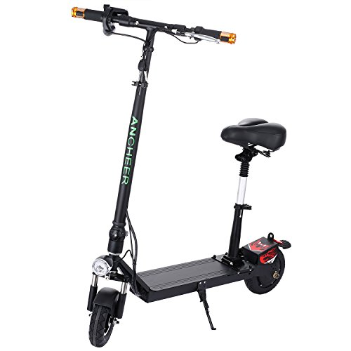 Ancheer Electric Scooter with Retractable Seat | Easy-Fold-n-Portable Ultra-Lightweight City Urban...