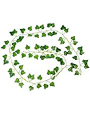 Ivy Leaves 2m Strands Artificial Fake Leaves Hanging Vines Plant Leaves Garland Home Garden Ivy Costume 2pcs