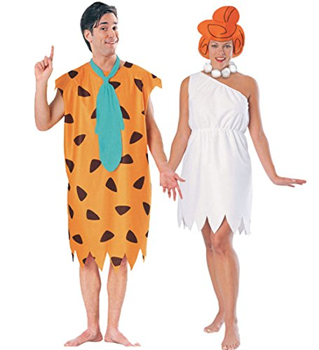 Fred and Wilma Flintstone Costume Set]()