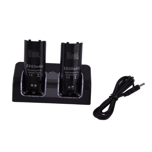 Buy black wii sofa remote charger